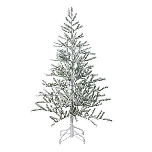 5' Flocked Alpine Twig Artificial Christmas Tree - Unlit - WHITE