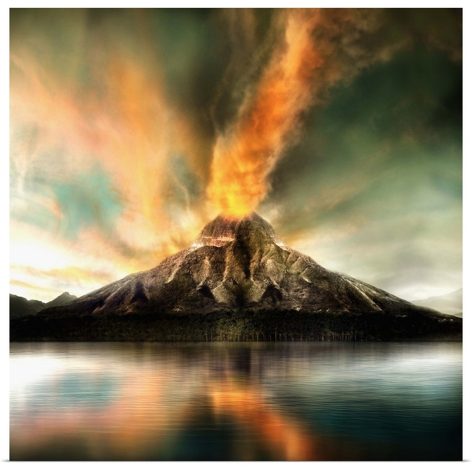 Shop Active Volcano Erupting Poster Print Overstock 16480456