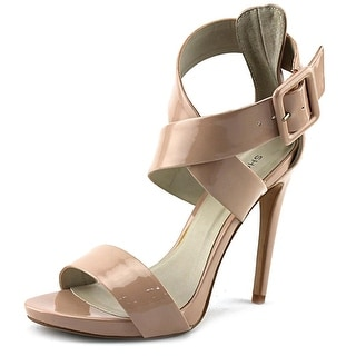 ShoeMint Bree Women  Open Toe Synthetic Nude Sandals