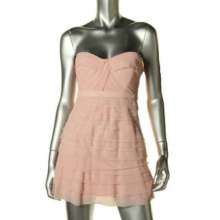 BCBG Max Azria Womens Petites Cocco Tiered Boning Semi-Formal Dress - 2p