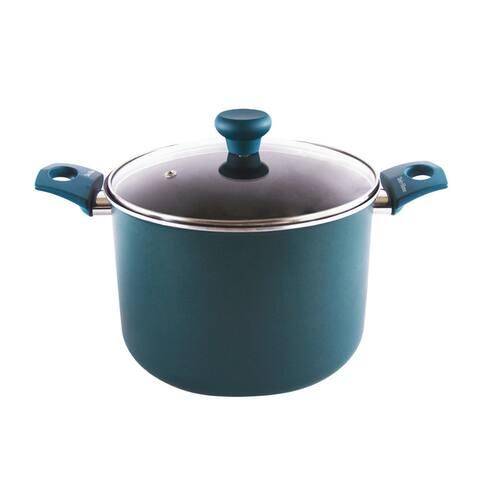 Range Kleen Taste of Home 8-Quart Non-Stick Aluminum Stock Pot with Lid