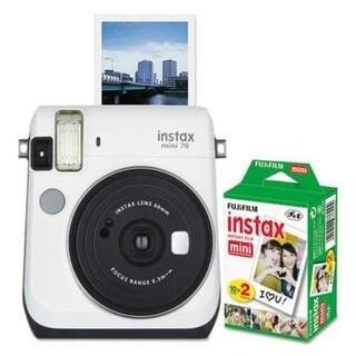 Fujifilm Instax Mini 70 Bundle, Auto Focus, White Instax Mini 70 Bundle
