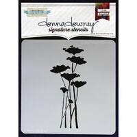 "Poppy Forest - Donna Downey Signature Stencils 8.5""X8.5"""