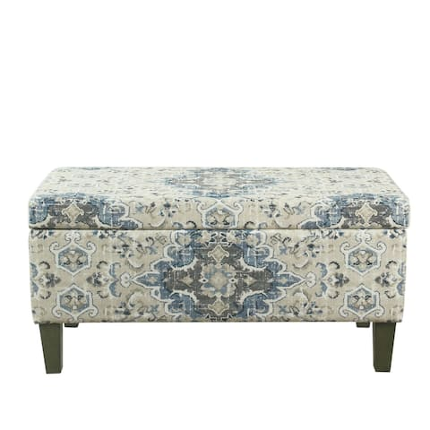 Porch & Den Holman Large Decorative Storage Bench