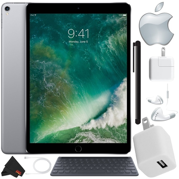 "Apple 10.5"" iPad Pro (512GB, Wi-Fi Only , Space Gray) Mid 2017 Version - Bundle with Apple Smart Keyboard"