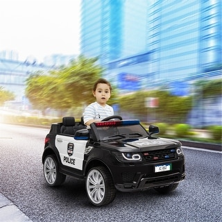Link to Police Pursuit 12V Electric Ride On Car for Kids with 2.4G Remote Control - Black Similar Items in Bicycles, Ride-On Toys & Scooters