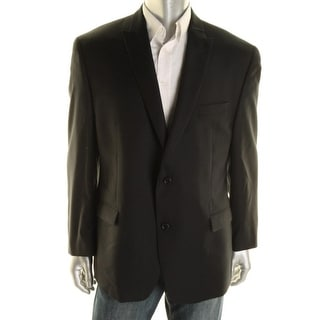 Shaquille O'Neal Mens Wool Peak Collar Two-Button Suit Jacket