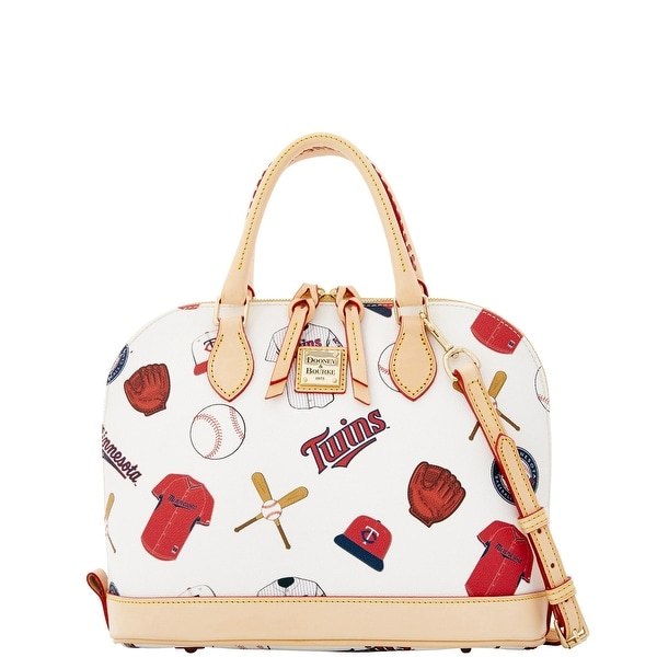 Dooney & Bourke MLB Twins Zip Zip Satchel (Introduced by Dooney & Bourke at $248 in Jan 2015) - White