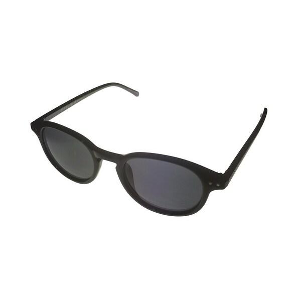 944426390c1 Shop Perry Ellis Mens Sunglass PE25 2 Black Plastic Round Nerd ...