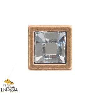 Bosetti Marella 101613 Crystal 1/2 Inch Square Cabinet Knob
