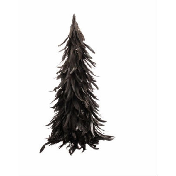 """26"""" Lush Adorned Bronze Feather Cone Christmas Tree"""