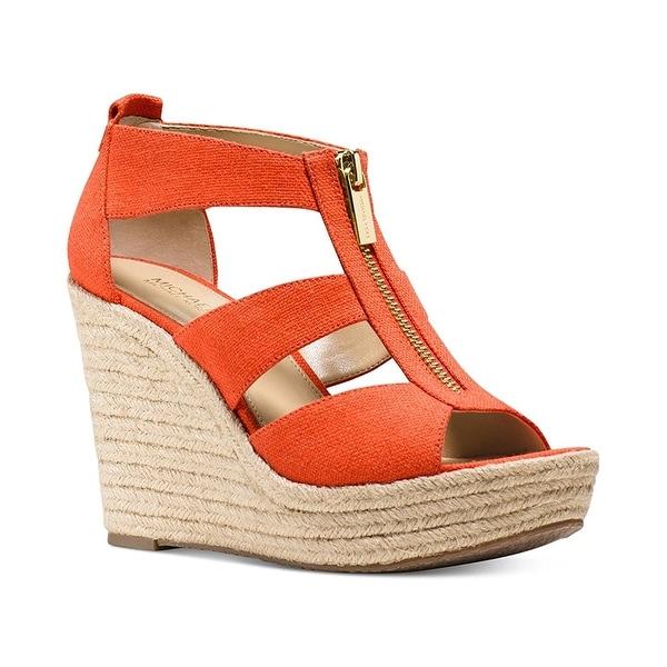 8daf3614d1b8 Michael Kors Womens Damita Wedge Fabric Open Toe Casual Platform Sandals