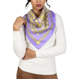 Versace Lavender Baroque Print Silk Foulard Scarf - 34-34|https://ak1.ostkcdn.com/images/products/is/images/direct/c4764d86cb6df142fcb406d437ee7cd71ff45029/Versace-Lavender-Baroque-Print-Silk-Foulard-Scarf.jpg?_ostk_perf_=percv&impolicy=medium