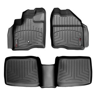 WeatherTech 44031-1-2 Black Front & Rear FloorLiner: Ford Five Hundred 2005- 2007, Ford Taurus 2008 - 2009