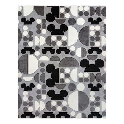 "MM Bravo Spheres Gray Black Area Rug (5'3"" x 7') by Gertmenian"