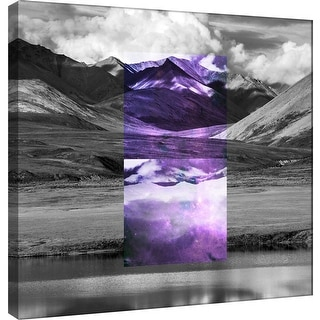 "PTM Images 9-100532  PTM Canvas Collection 12"" x 12"" - ""Celestial Landscape 2"" Giclee Rural Art Print on Canvas"