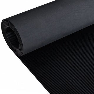 vidaXL Rubber Floor Mat Anti-Slip 7' x 3' Fine Ribbed