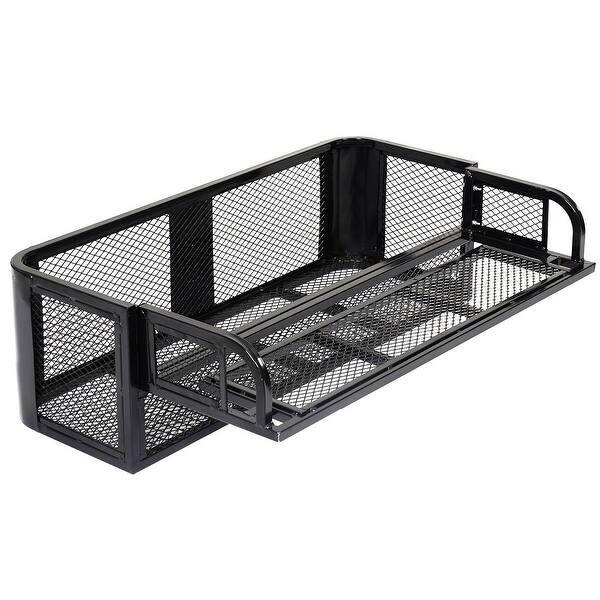 Shop Costway Atv Utv Universal Rear Drop Basket Rack Steel