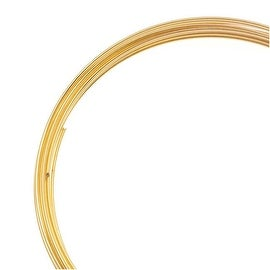 Bright Gold Color Bracelet Memory Wire 12 Loops