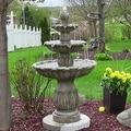 Sunnydaze Classic Tulip 3 Tier Fountain, 46 Inch Tall - Thumbnail 1