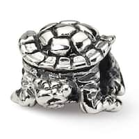 Sterling Silver Reflections Turtle Bead (4mm Diameter Hole)