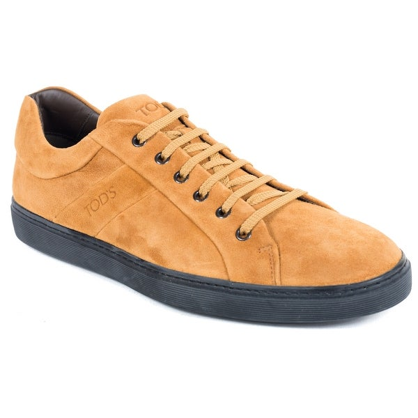 d959627a0c Tod's Suede Caramel Brown Low Top Allacciato Sneakers. Click to Zoom