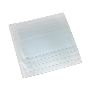 Buxton Stacked Vinyl Window Inserts for Credit Card and Hipster Wallets, Clear - One Size