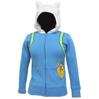 Adventure Time Finn Jake In Pocket Juniors Costume Zip Hoodie