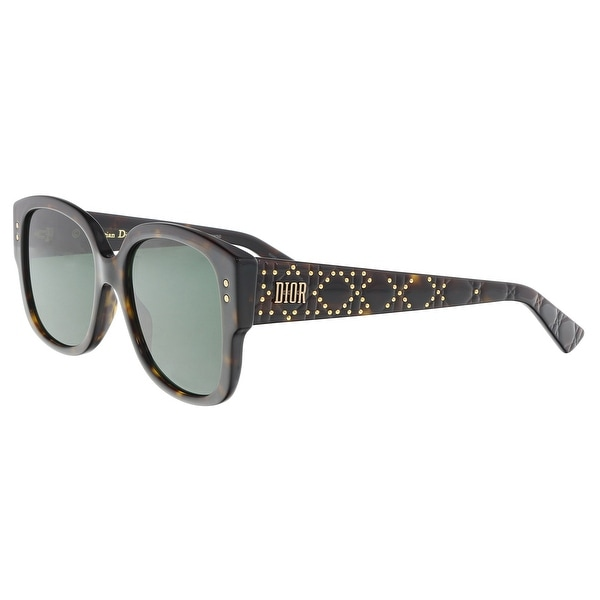 48ce252df8c9f Christian Dior LADYDIORSTUDS 0086 Dark Havana Square Sunglasses - 54-18-140