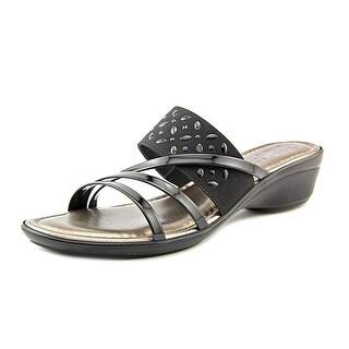 Easy Street Atessa Women N/S Open Toe Synthetic Black Slides Sandal