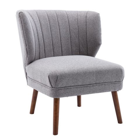 Corvus Farlow Upholstered Armless Wingback Accent Slipper Chair