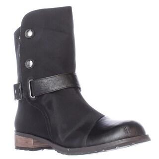 Matt Bernson Tundra Shearling Lined Mid Calf Boots - Black/White