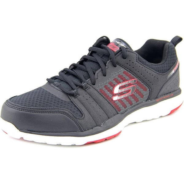 Skechers Quick Shift TR Men Round Toe Leather Black Sneakers