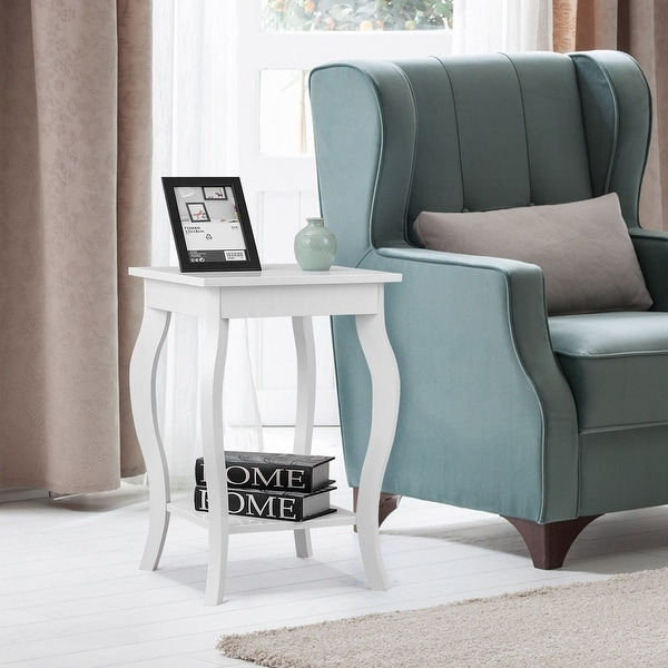 Shop Gymax Accent Side Table Sofa End Table Nigh stand ...