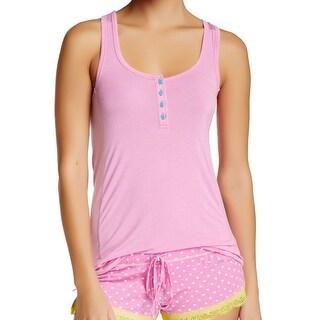 Honeydew NEW Wafer Pink Women's Size Small S Solid Tank Henley Sleepshirt