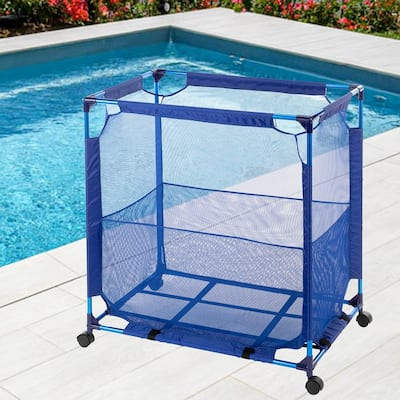 140 Gal Patio Storage Box Swimming Pool Outdoor Storage Basket