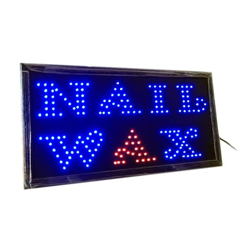 Nail Wax LED Neon Light Open Sign Twinkling Sparking lights for Salon - Blue