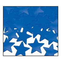 Club Pack of 12 Blue Fanci-Fetti Star Celebration Confetti Bags 1 oz.