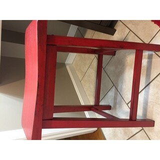 Shop Gaucho Antique Red Counter Height Stool Set Of 2