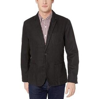 Link to Goodthreads Men's Standard-Fit Linen Blazer, Black, Large Similar Items in Sportcoats & Blazers