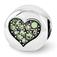 Sterling Silver Reflections Swarovski Elements Aug-Strength Bead (4mm Diameter Hole)