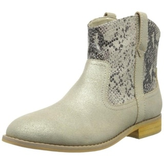 Bass Womens Duncan-1 Leather Snake Print Ankle Boots