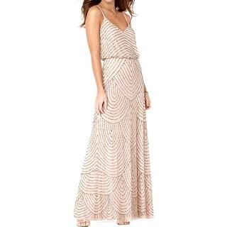 Adrianna Papell Womens Formal Dress Blouson Full-Length