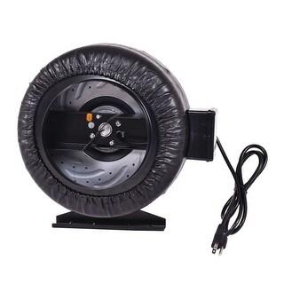 Costway 8'' Inch Inline Fan Hydroponics Exhaust Fan Duct Cooling Fan Strong CFM - Black