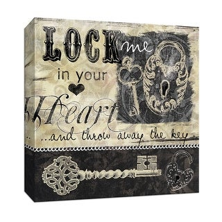 "PTM Images 9-146711  PTM Canvas Collection 12"" x 12"" - ""Lock and Key I"" Giclee Sayings & Quotes Art Print on Canvas"