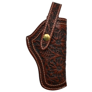 3D Western Gun Case Holster Revolver Floral Closed Muzzle Snap