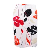 Kasper Women's Printed Pencil Skirt - Valencia Multi