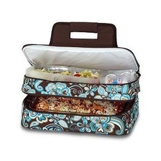 Picnic Plus PSM-721CC Entertainer Hot & Cold Food Carrier-Cocoa Cosmos