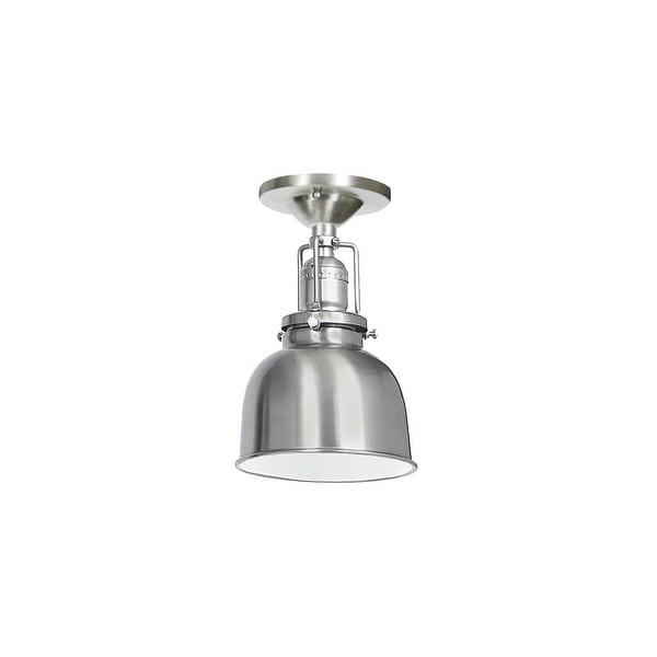 """JVI Designs 1202-17-M2 Union Square 1 Light Semi-Flush 8.75"""" Tall Ceiling Fixture with Metal Shade - Pewter"""