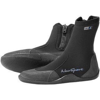 NeoSport 3mm Hi-Top Dive Boots with Zipper - Black